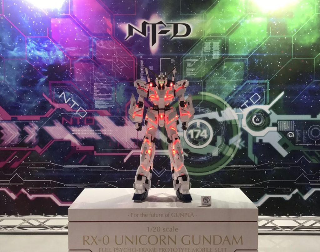 1/20 scale RX-0 UNICORN GUNDAM on display @ THE GUNDAM BASE TOKYO: Photo Report, Credits