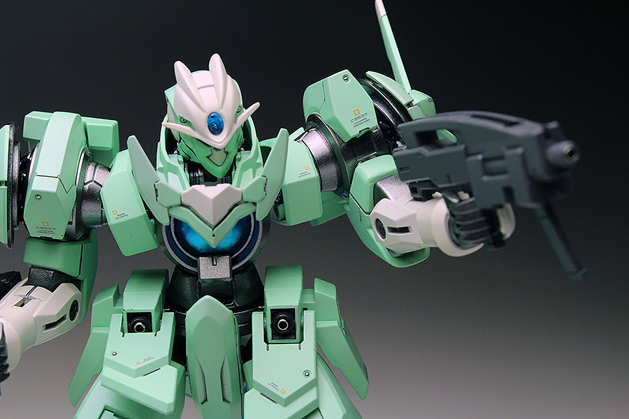 [WORK REVIEW] P-Bandai HGBF 1/144 ACCELERATE GN-X painted build, images