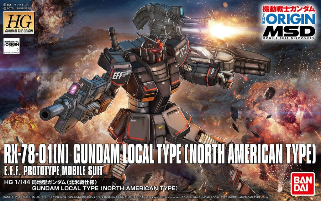 HG GTO MSD 1/144 RX-78-01[N] GUNDAM LOCAL TYPE [NORTH AMERICAN TYPE]: Just Added Box Art, Many Official Images, Info Release