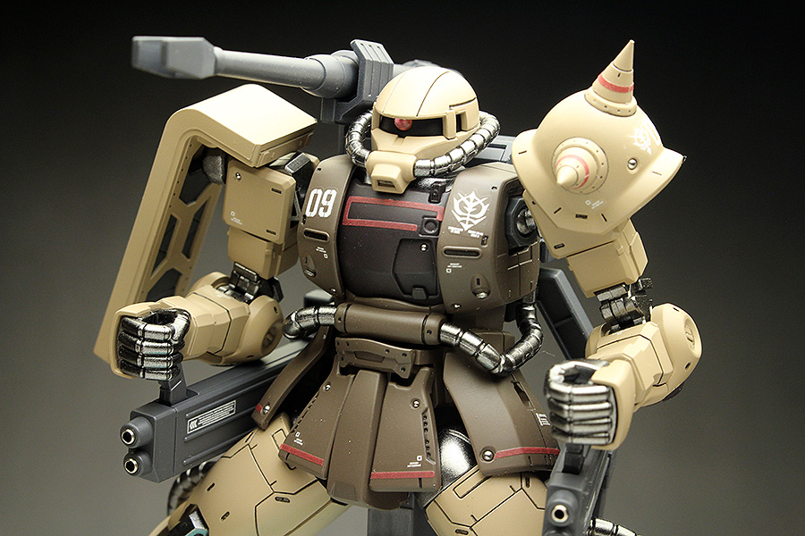 WORK REVIEW: HG GTO 1/144 MS-06CK ZAKU HALF CANNON [The Origin MSD] painted build. Images