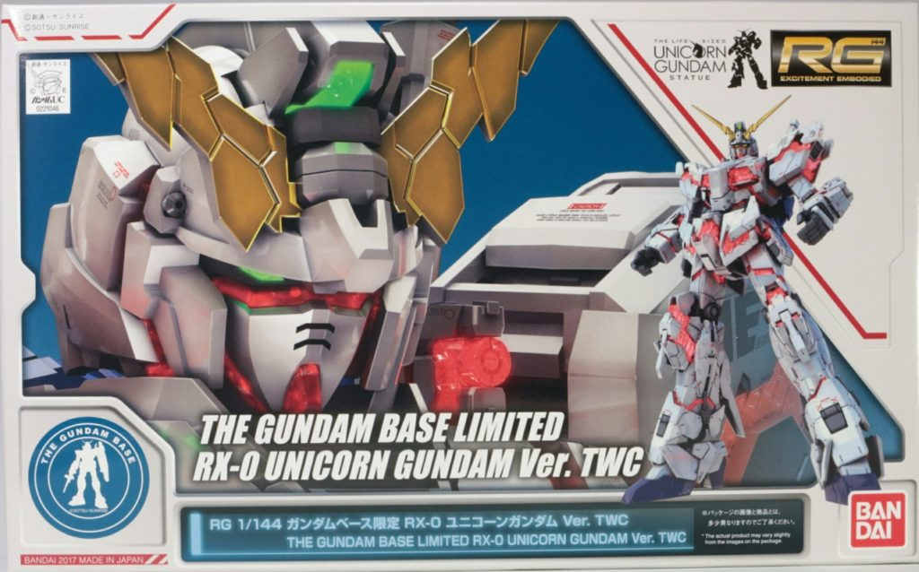 FULL REVIEW: RG 1/144 THE GUNDAM BASE LIMITED RX-0 UNICORN GUNDAM Ver.TW