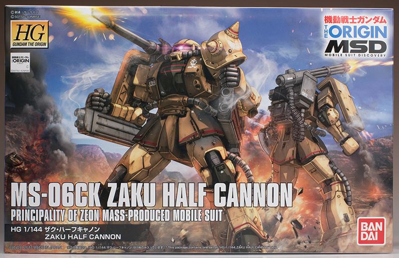 FULL REVIEW: HG GTO 1/144 MS-06CK ZAKU HALF CANNON [The Origin MSD]