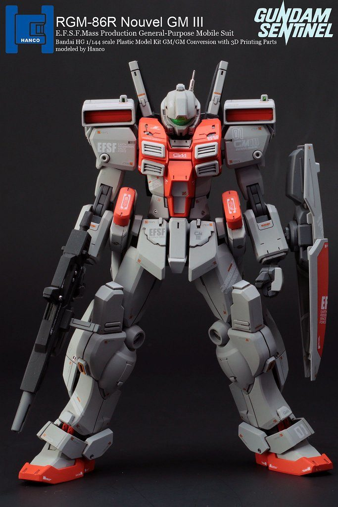 HANCO's HG 1/144 RGM-86R Nouvel GM III (conversion w/3D printing parts.) Big Size Images
