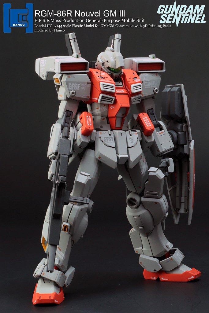 HANCO's HG 1/144 RGM-86R Nouvel GM III (conversion w/3D ...