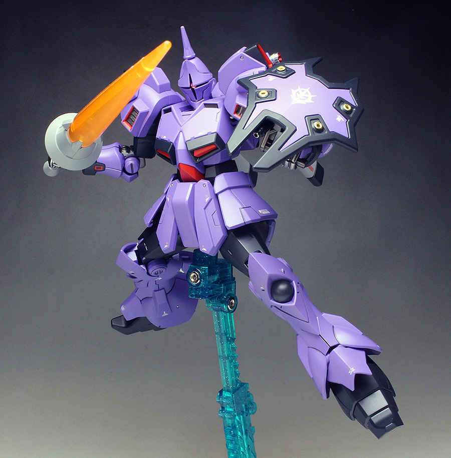 WORK REVIEW: P-Bandai HGUC 1/144 MS-15KG GYAN KRIEGER painted build, images