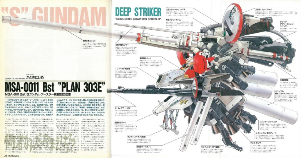 MG 1/100 PLAN303E DEEP STRIKER: Just Added NEW Images from Bandai Hobby Site, Info