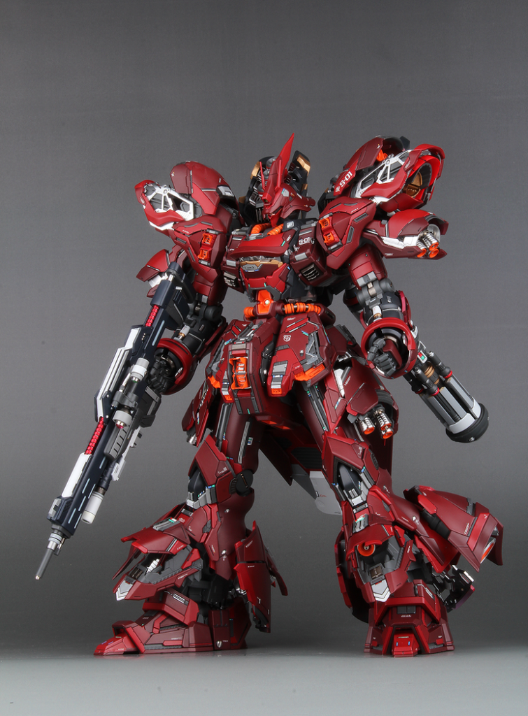 MG SAZABI Ver.Ka + Resin conversion by Ver.infiniti_demension: Photo Review, Info credits