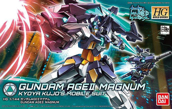 HGBD 1/144 GUNDAM AGE II MAGNUM: JUST UPDATED... Box Art and MANY NEW Official Images, Info Release