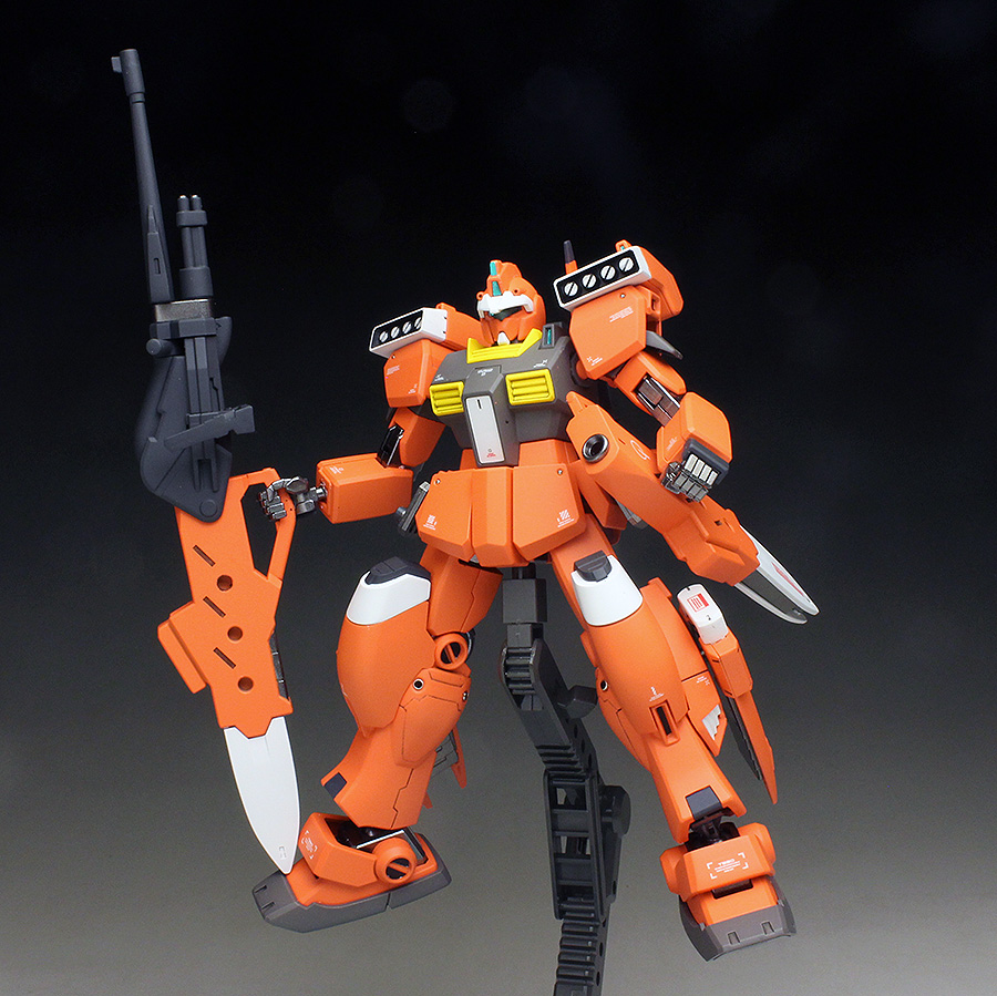 HGBD 1/144 YUKKI'S GM III BEAM MASTER painted build, images / photoreview