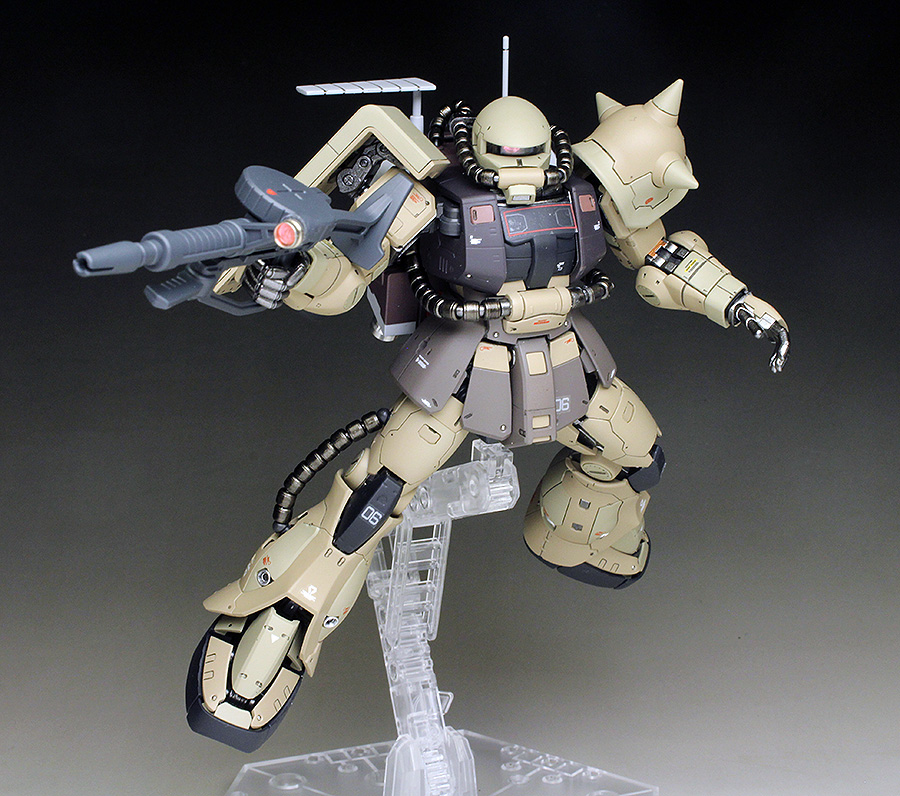P-Bandai RG 1/144 ZAKU MINELAYER painted build images