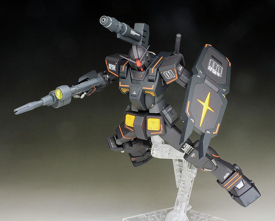 REVIEW P-Bandai HG FA-78-2 HEAVY GUNDAM (The ORIGIN MSD Series) painted build images