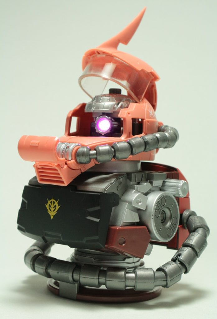 FULL REVIEW: EXCEED MODEL ZAKU HEAD Lighting and Sound BUST SET, many images