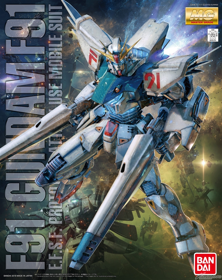 MG 1/100 GUNDAM F91 Ver.2.0: No.28 Official Images, Box Art too. Info Release