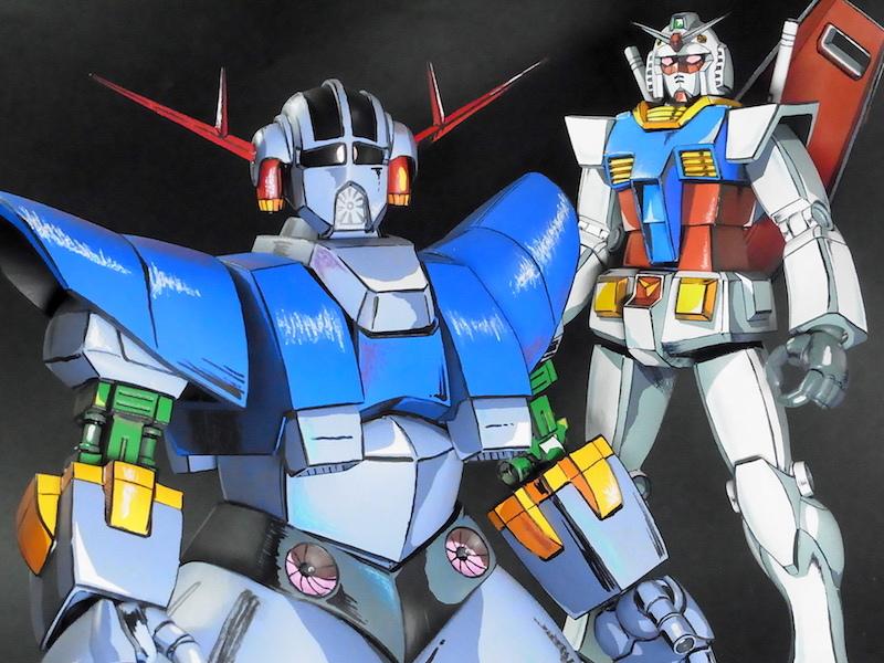 むむむノ53's Another AMAZING MG 1/100 RX-78 / ZEONG WORK Painted in Anime Style! [よみがえるジオング] FULL PHOTO REVIEW No.76 Images