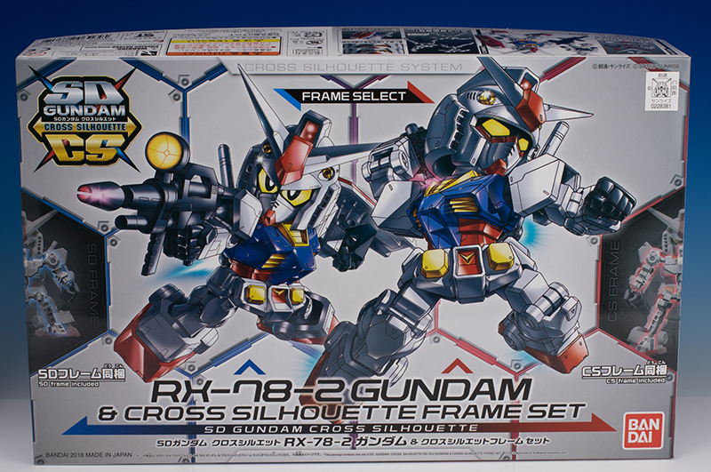 [SD GUNDAM CROSS SILHOUETTE] SDCS RX-78-2 GUNDAM and CROSS SILHOUETTE FRAME SET Review No.76 Images
