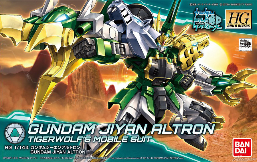 HGBD 1/144 TIGERWOLF'S GUNDAM JIYAN ALTRON: Full Official Images till now, Info too