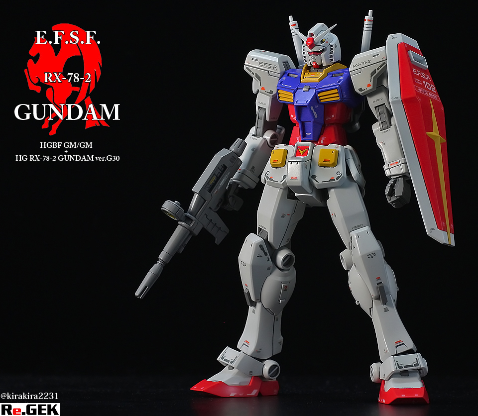 kirakira2231's Mixing Build HGBF GM/GM + HG RX-78-2 GUNDAM Ver.G30th REVIEW