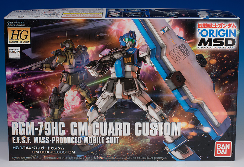 MEGA REVIEW: HG Gundam The ORIGIN MSD Series 1/144 GM GUARD CUSTOM, info credits [No.119 Images]