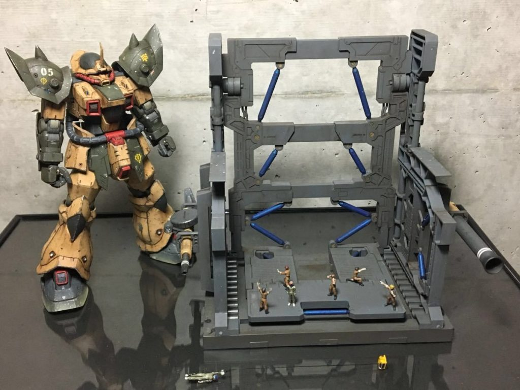 ryo1981's Diorama RE/100 EFREET DESERT USE [SECRET BASE 秘密基地] Full Images, Info