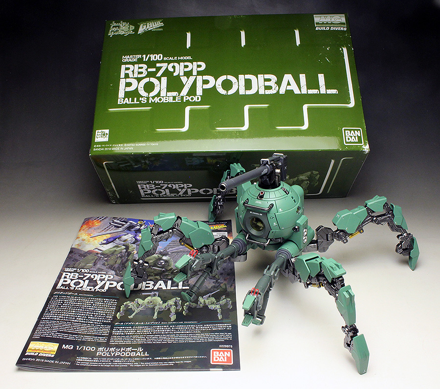 [WORK] PAINTED BUILT REVIEW: P-Bandai MG RB-79PP POLYPODBALL