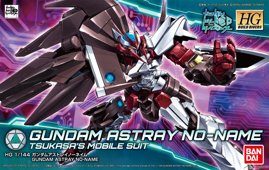 HGBD 1/144 GUNDAM ASTRAY NO-NAME: BOX ART / New Official Images, Full Info
