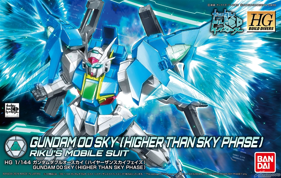 HGBD 1/144 RIKU's GUNDAM 00 SKY (HIGHER THAN SKY PHASE): BOX ART / New Official Images, Full Info