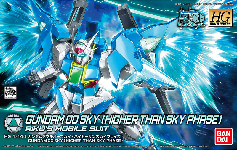 HGBD 1/144 GUNDAM 00 SKY HIGHER THAN SKY PHASE Review (No.76 images)
