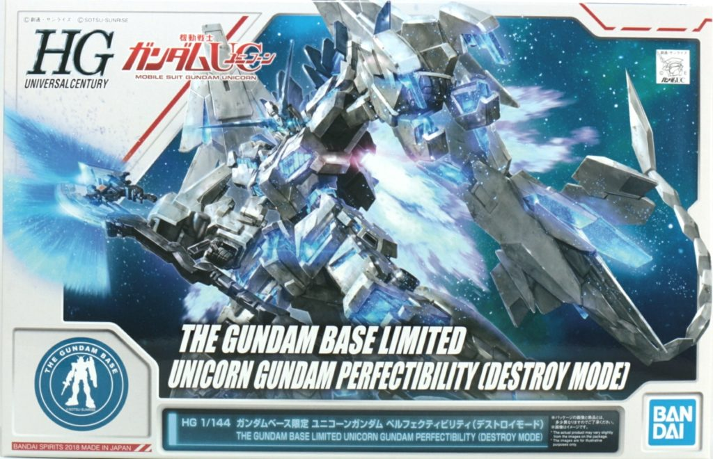 REVIEW HGUC 1/144 THE GUNDAM BASE LIMITED UNICORN GUNDAM PERFECTIBILITY DESTROY MODE (No.70 images, credit)
