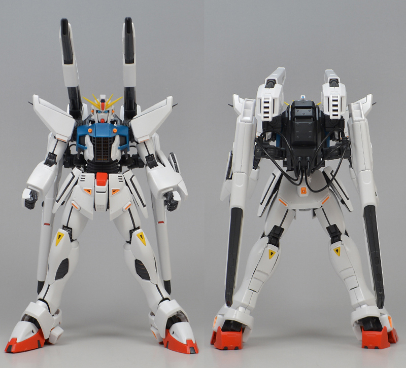 REVIEW P-Bandai MG 1/100 GUNDAM F91 Ver.2.0 BACK CANNON TYPE and TWIN V.S.B.R. SET UP TYPE: No.82 images, credit