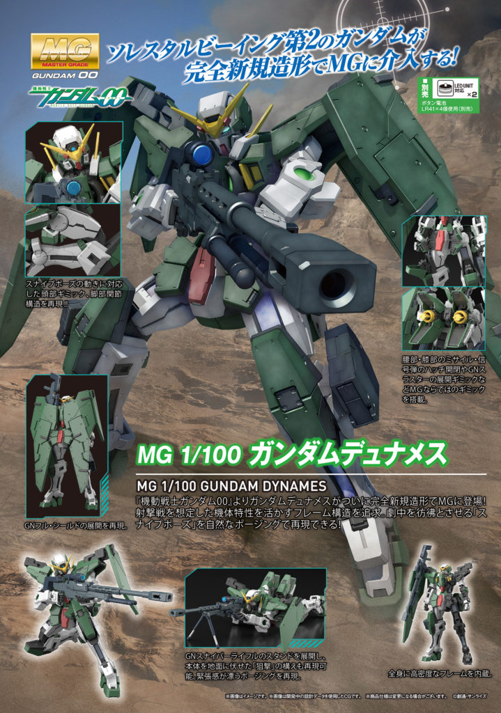 MG 1/100 GUNDAM DYNAMES: Just added NEW Official Images, Info Release