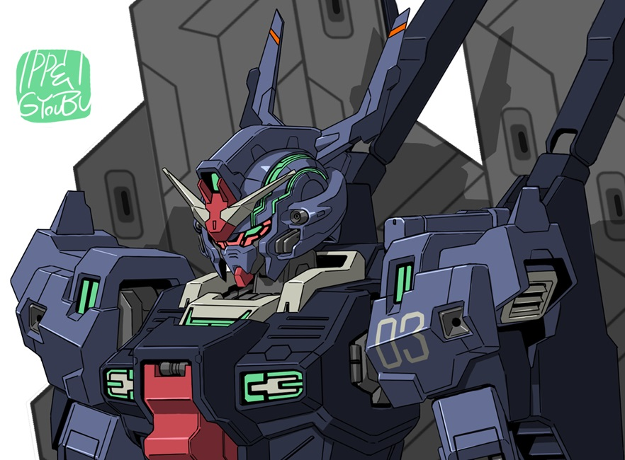 Illustration of Psycho Gundam MK-V Unit 3 from Mobile Suit Moon Gundam has been released in the monthly Gundam Ace Mag. January 2019 issue.