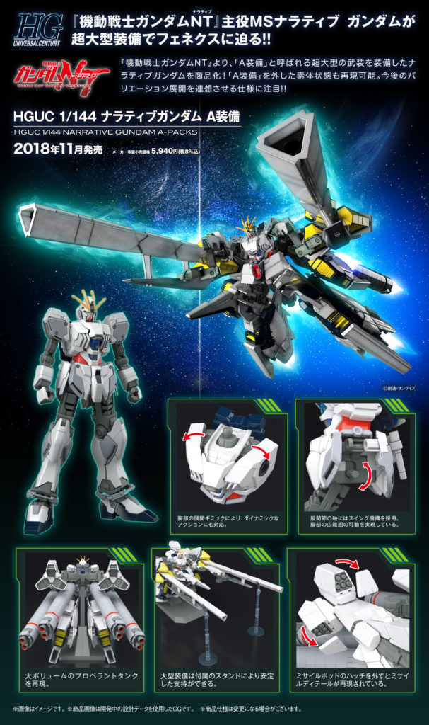 HGUC 1/144 NARRATIVE GUNDAM A-PACKS: UPDATE Big Size Official Images, Promo posters, Info Release
