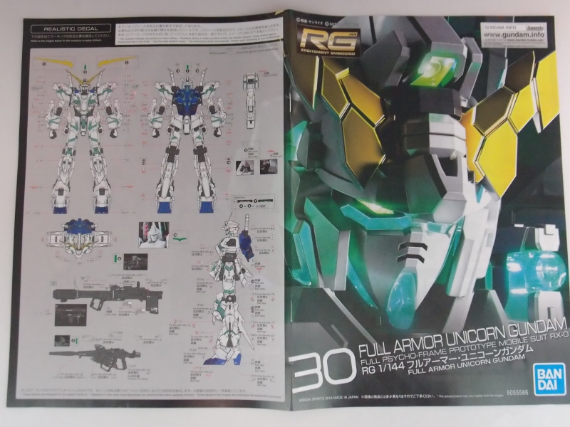 RG 1/144 FULL ARMOR UNICORN GUNDAM Box Open REVIEW