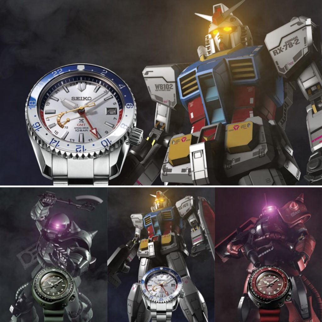 40th Anniversary x Seiko Prospex Limited Edition 3 models: Gundam, Char's Zaku, mass production type Zaku