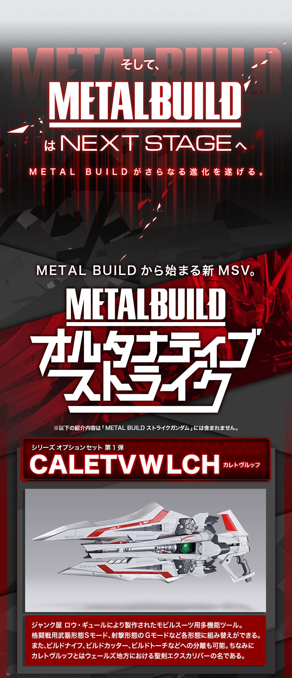 "A new MSV project ""METAL BUILD Alternative Strike"" will be announced at the event ""METAL BUILD∞-Metal Build Infinity"" held on 6/22 ・ 23."