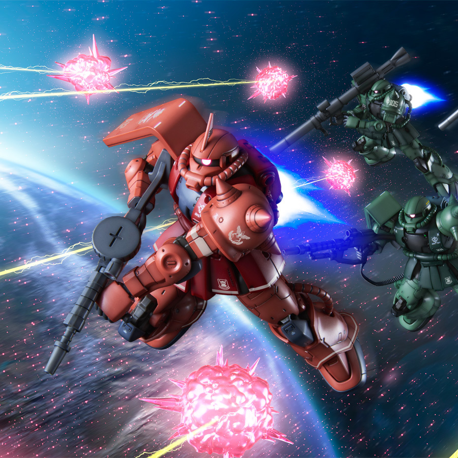 New images HG Zaku II Red Comet Ver.