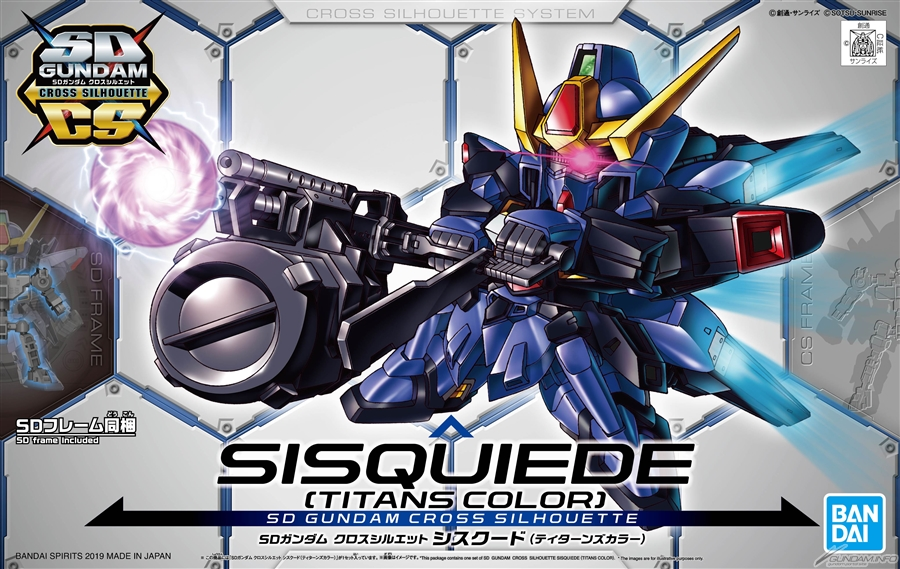 SD GUNDAM CROSS SILHOUETTE SISQUIEDE TITANS COLOR