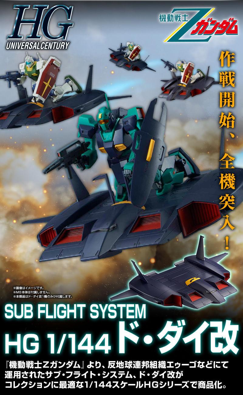P-Bandai HGUC SUB FLIGHT SYSTEM DODAI CUSTOM