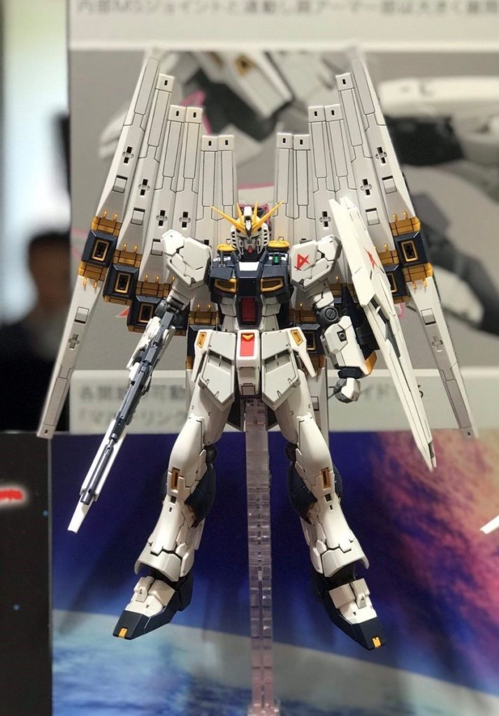 "At the Hobby Online Shop at Premium Bandai, we are currently planning a project ""Double Fin Funnel Expansion Unit for RG 1/144 Nu-Gundam"" (provisional)."