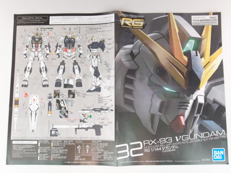 REVIEW (Box Open) RG 1/144 RX-93 Nu GUNDAM (images, credit)