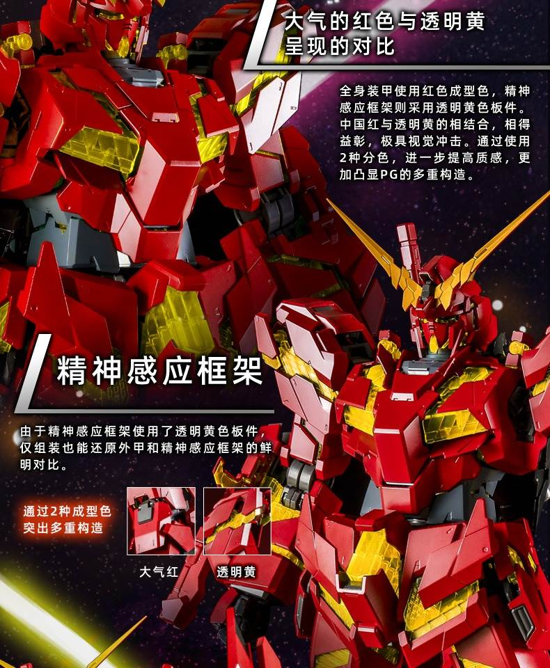 """""""PG 1/60 Unicorn Gundam + Armed Armor DE (China Red Version)""""   Limited sale at China Bandai direct sales (Images, LINK)  Sales schedule in Japan is unknown"""