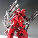 RG 1/144 Sazabi with Dual Gatling Gun: Work by TORI