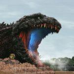 Hyogo Prefecture's Awaji Island: Massive 120-meter Godzilla statue