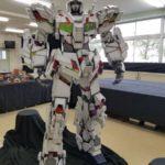 Cardboard Unicorn Gundam built by Japanese high school students