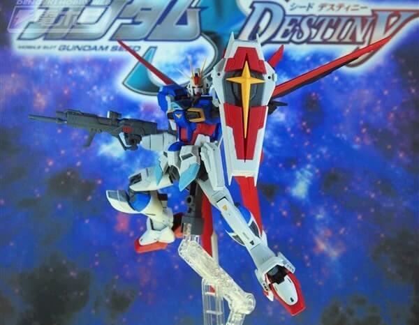 full pose on display stand of Force Impulse Gundam