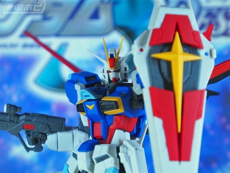 Force Impulse Gundam closeup body and shield