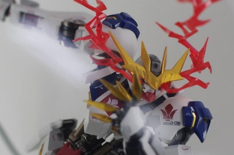 head closeup of Gundam Barbatos Lupus Rex
