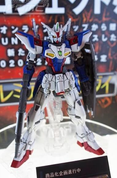 on display stand Gundam Geminass