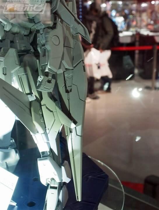 closeup of Gundam Kyrios