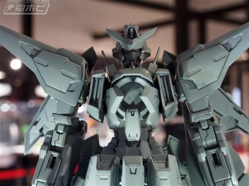 body closeup of Gundam Kyrios